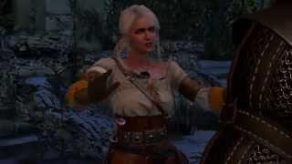 The Witcher 3. Игра в Снежки с Цири.