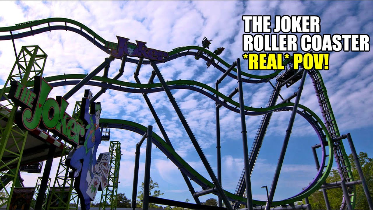 The Joker Roller Coaster Real Pov Spinning 4th Dimension Ride Six Flags Great Adventure You