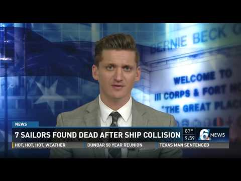 7 sailors found dead after ship collision