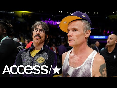 Red Hot Chili Peppers' Anthony Kiedis Flips Out At A Lakers Game! | Access