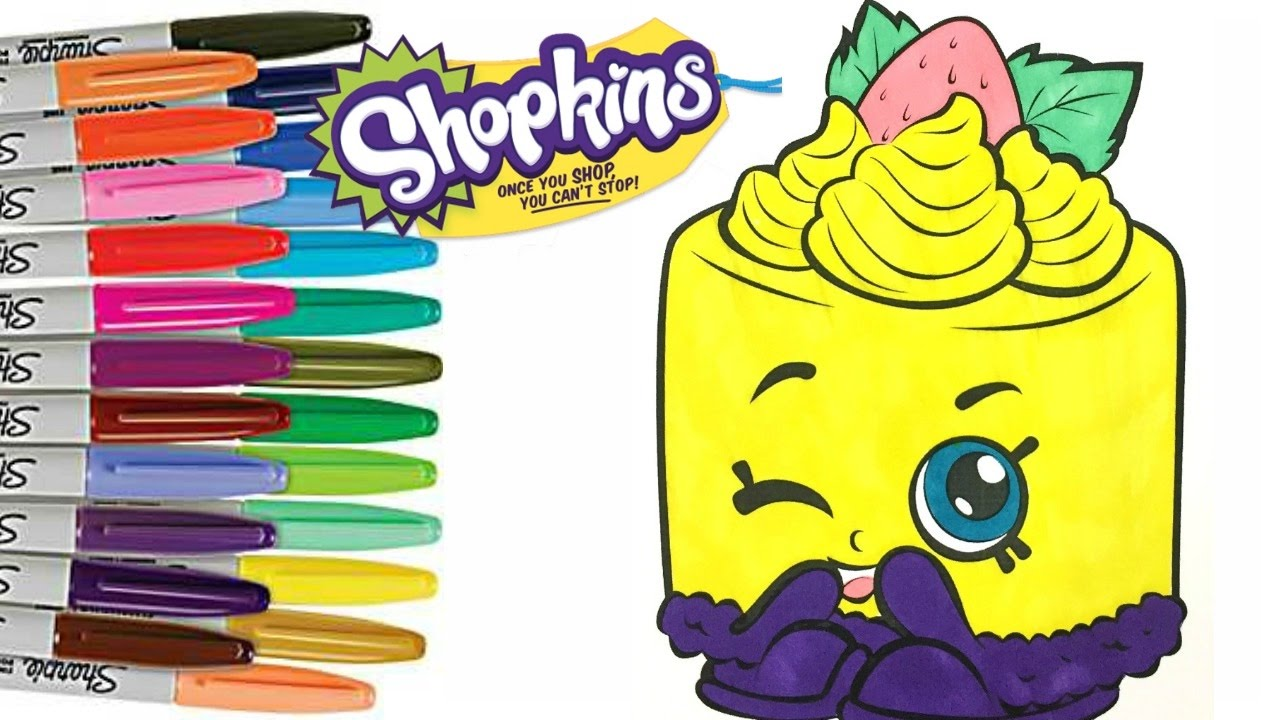 Shopkins Food Fair Edition CHEESE LOUISE Coloring Pages For Kids Art