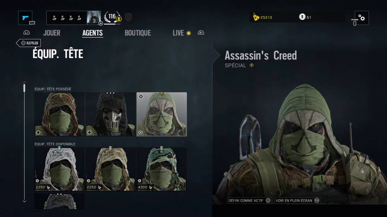 rainbow six siege assassins creed charm
