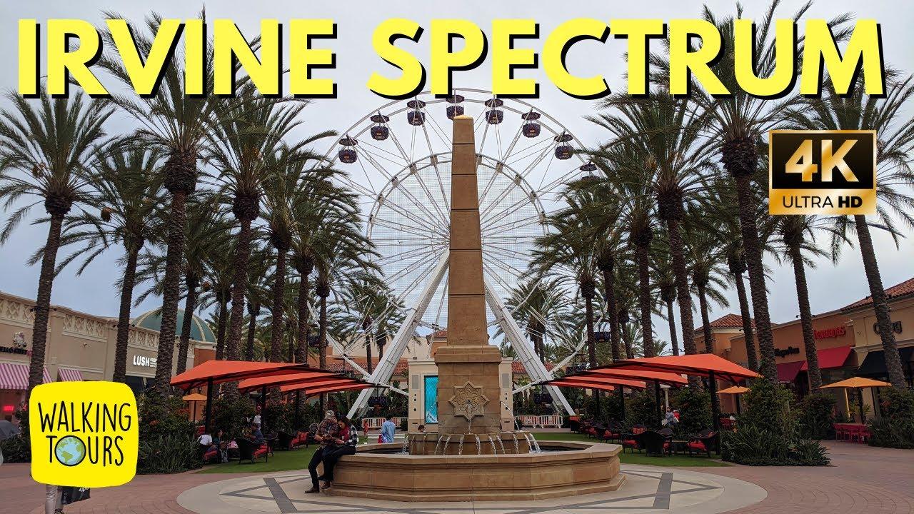 Irvine Spectrum Center Huge Upscale Shopping Mall Walking Tours For Treadmills 4k Walking Tour Youtube