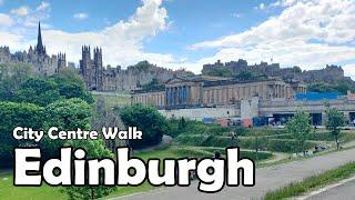 Edinburgh City Centre Walk【4K】  Let's Walk 2021