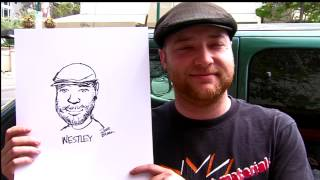 Caricaturist on the streets - Little Italy Episode