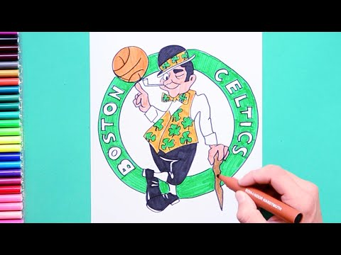 How to draw and color the Boston Celtics logo - NBA Team Series