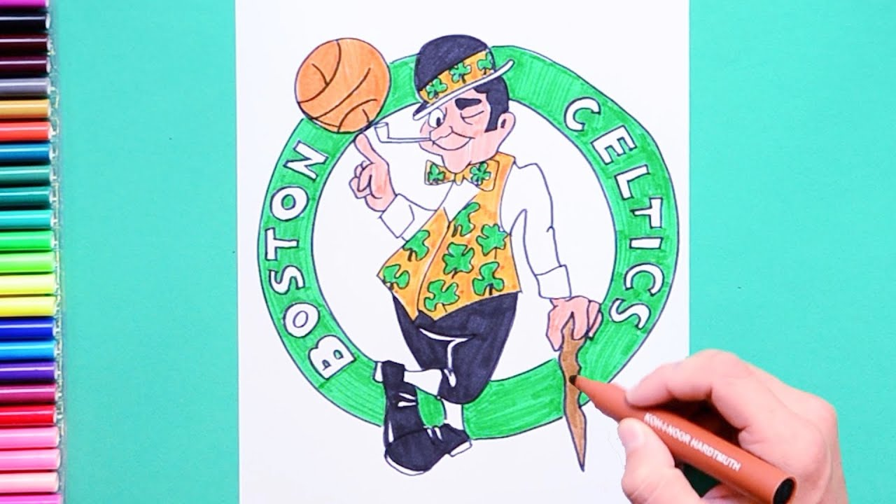 info for 085c2 598b5 How to draw Boston Celtics logo (NBA Team)