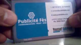 Cartes de visite Plastique PVC