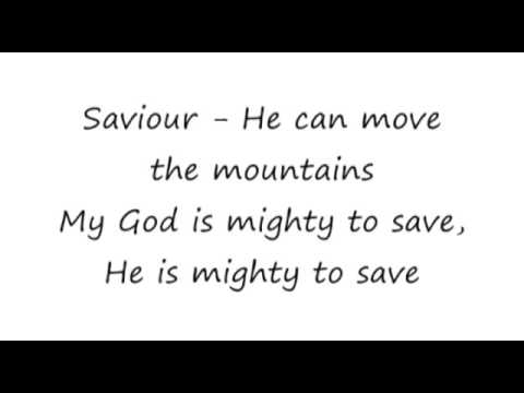 Mighty to Save Hillsong 16x9 lyrics