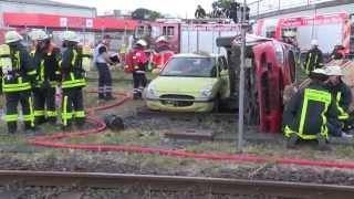 Feuerwehr Frankfurt - Katastrophenschutzübung Olymp 2015
