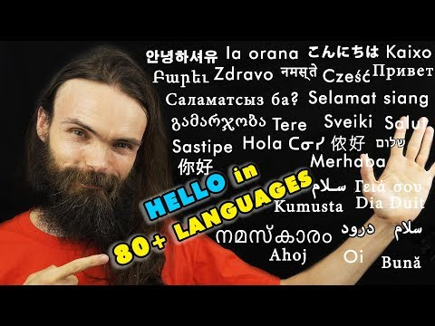 How to say HELLO in 80+ languages (ASMR Whispers)