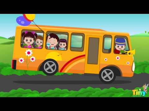 The Wheels on the Bus Go Round and Round - English Nursery Rhymes for Children | TinyDreams Kids