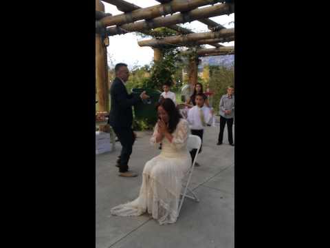 Bride Accepts Ice Bucket Challenge.