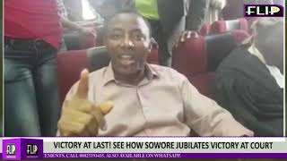 VICTORY AT LAST SEE HOW SOWORE JUBILATES VICTORY AT COURT