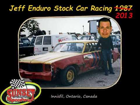 Jeff Enduro Racing Sunset Speedway 1987. Picture of Jeff's floating head taken in 2013.