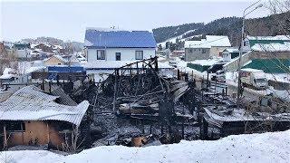 С места пожара в Ханты-Мансийске изъяли вещественные доказательства