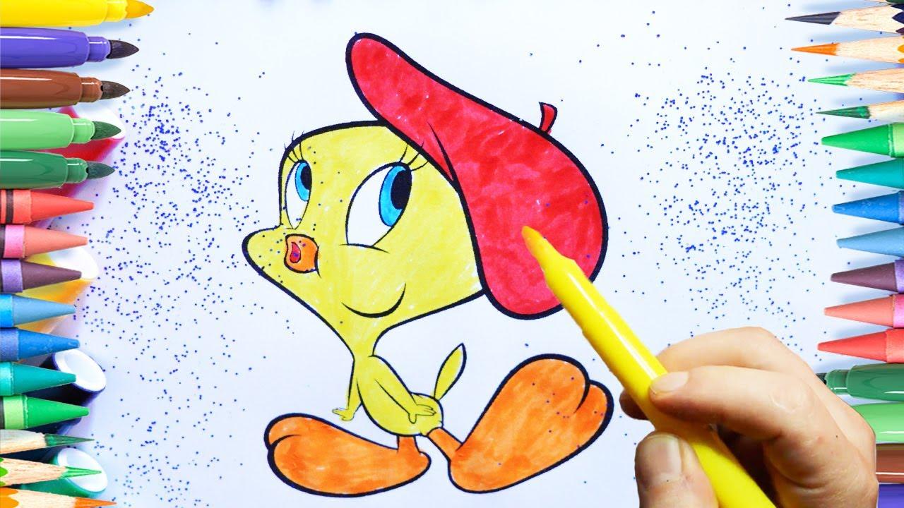 Tweety Boyama Sayfasi Renkleri öğreniyorum Youtube