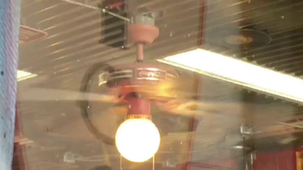 Fta 44 coca cola ceiling fan in a barber shop youtube fta 44 coca cola ceiling fan in a barber shop aloadofball Images