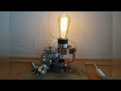 Steampunk Lampe Diy Industrial Lamp Youtube