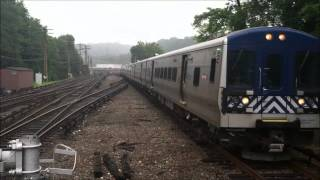 Metro-North Harlem Line Trains at North White Plains