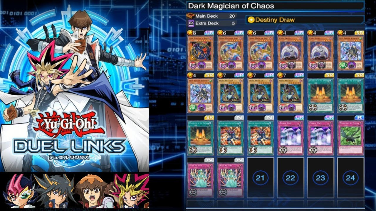 Yu-Gi-Oh! Duel Links (Dark Magician of Chaos + Destiny Draw) Servants of  the King F2P
