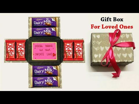 How to Make Gift Box of Chocolates For Loved Ones | Love Box Greeting Card | Birthday Gift Box