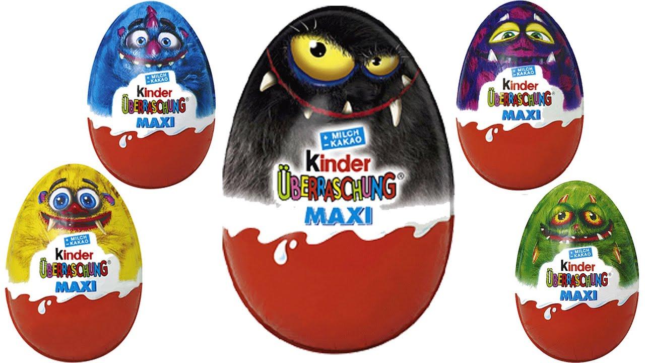 kinder surprise halloween monster fun autumn 2014 surprise eggs kinder berraschung maxi youtube. Black Bedroom Furniture Sets. Home Design Ideas