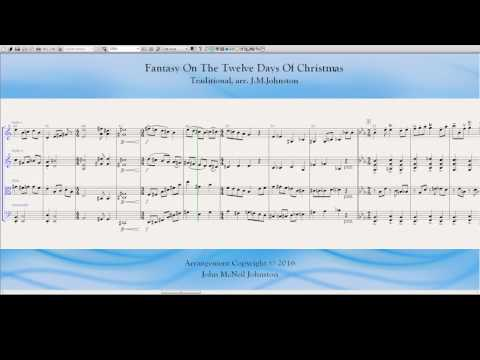 Fantasy On The Twelve Days of Christmas  for string quartet