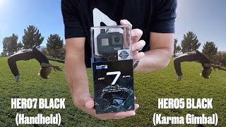 WHICH GOPRO SHOULD I BUY NOW?! HERO7 BLACK UNBOXING AND STABILIZATION COMPARISON VS KARMA GIMBAL