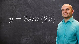pre calculus finding the period and amplitude of a graph y 3sin 2x
