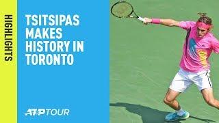Highlights: #NextGenATP Tsitsipas Shines, Makes History In Toronto 2018