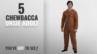 Top 10 Chewbacca Onsie Adult [2018]: Bioworld Star Wars Chewbacca Wookiee Adult Hooded Costume
