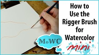 How to Use a Rigger Brush for Watercolor