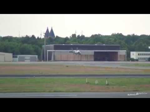 'Marine One' UH-60 Black Hawk Takeoff and Landing   Berlin-Tegel (ATC)