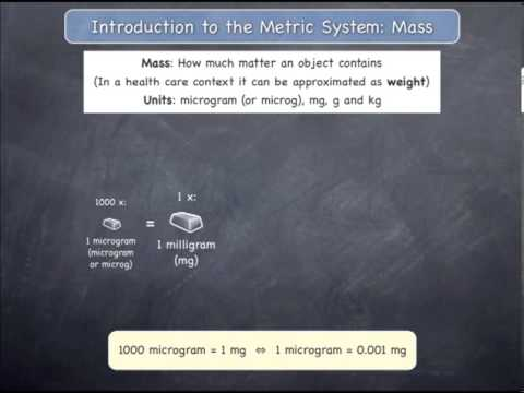 Introduction to the Metric System: Mass
