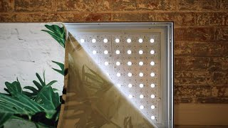 Fabric-face Lightboxes in a Flash with the Matrix Panel from Bounce LED