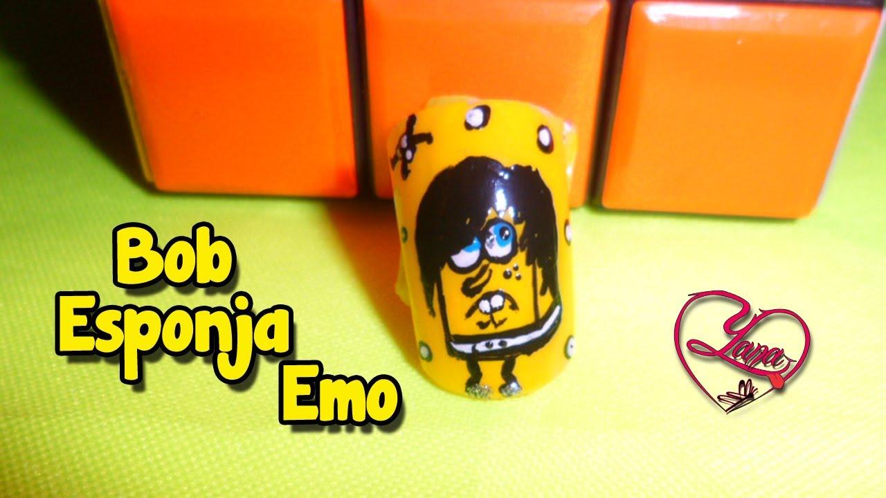 35 Decorados de Uñas Bob Esponja Emo - Yana - YouTube