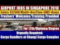 "Airport Jobs In Singapore: ""Cargo Handlers"" At Changi Cargo Complex 