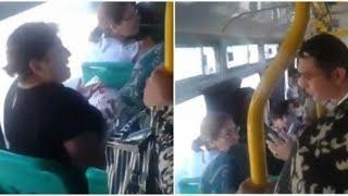 """Bakıda avtobusda növbəti dava: """"Anamı söymə"""""""