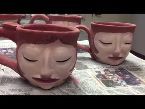 Vlogmas Day 3: Weave-o-Rama and making art mugs in the clay studio