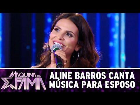 Aline Barros canta para esposo | Máquina da Fama (10/04/17)