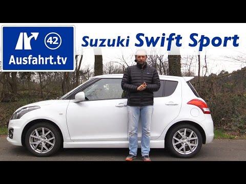 2016 Suzuki Swift Sport 5-Türer - Fahrbericht der Probefahrt, Test, Review Ausfahrt.tv