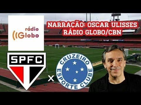 Gols De São Paulo 3 x 2 Cruzeiro - Oscar Ulisses - Rádio Globo - Brasileirão - 13/08/2017