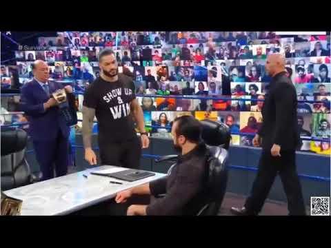 Download Roman regins vs drew mclntyre survivor series contract singining.
