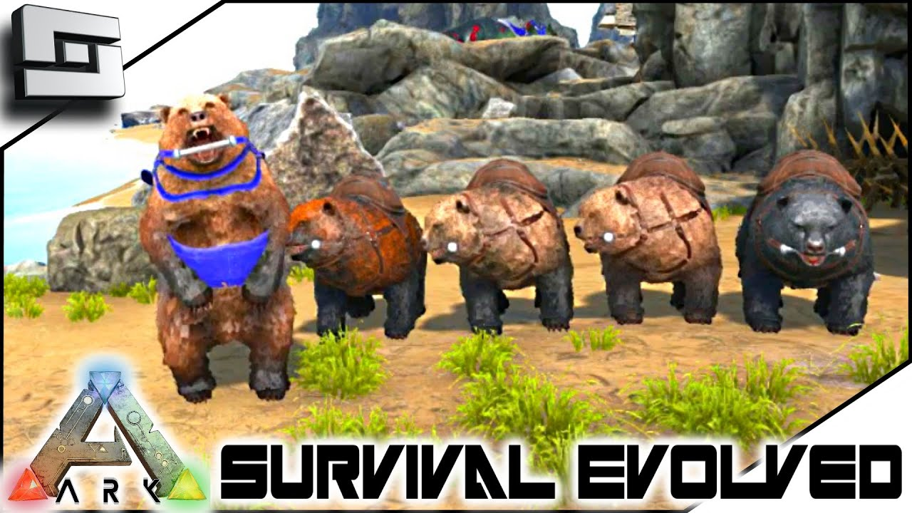 ARK: Survival Evolved   DIRE BEAR ARMY! S3E101 ( Gameplay )   YouTube