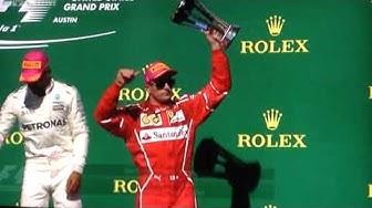 Formel 1 Austin Siegerehrung 2017