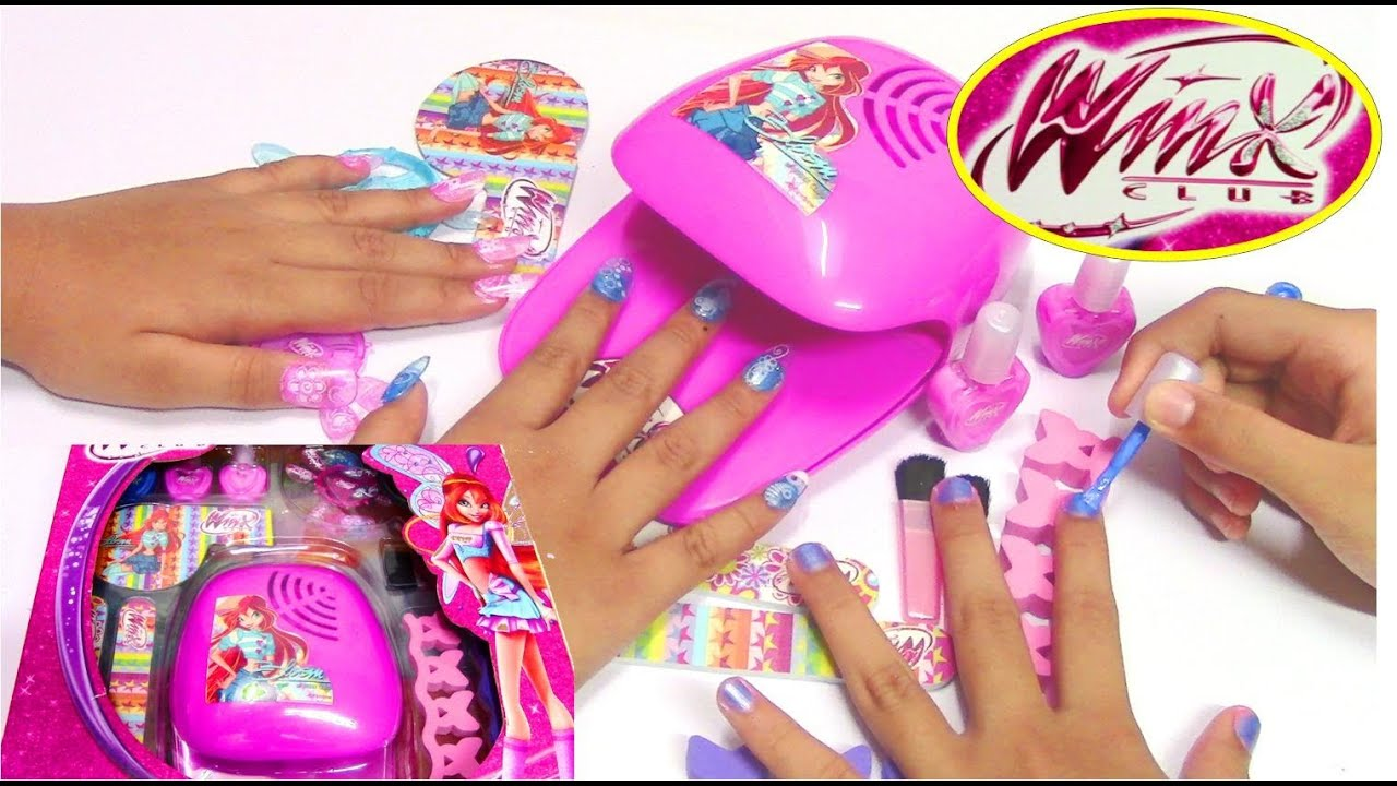Winx Fairy Fashion Set - Do-It-Yourself Nail Art Design - YouTube