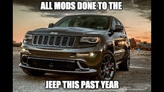 All the mods done to the Jeep SRT this past year