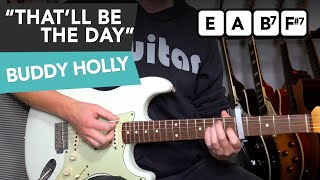 Buddy Holly - That'll Be The Day Guitar Lesson Tutorial + SOLO & LICKS