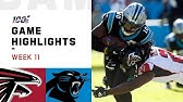 Falcons vs. Panthers Week 11 Highlights   NFL 2019